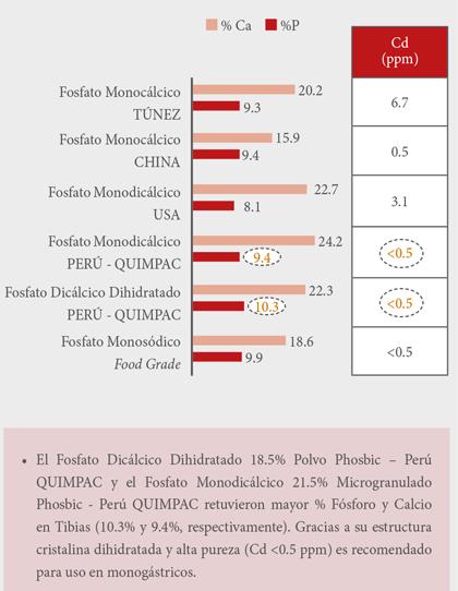 resultados estadísticos del fósforo