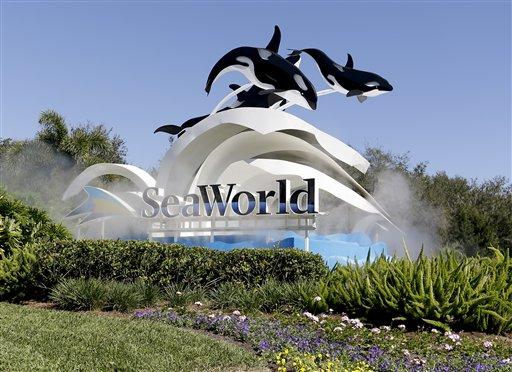 Entrada al SeaWorld en Orlando, Florida, el 31 de enero de 2017. La firma china Zhonghong Zhuoye Group Co. comprará a Blackstone Group una participación de 21% en SeaWorld, se anunció el 24 de marzo de 2017. (AP Foto/John Raoux)