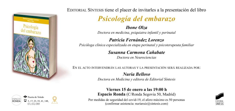 Presentación del libro «Psicología del embarazo»
