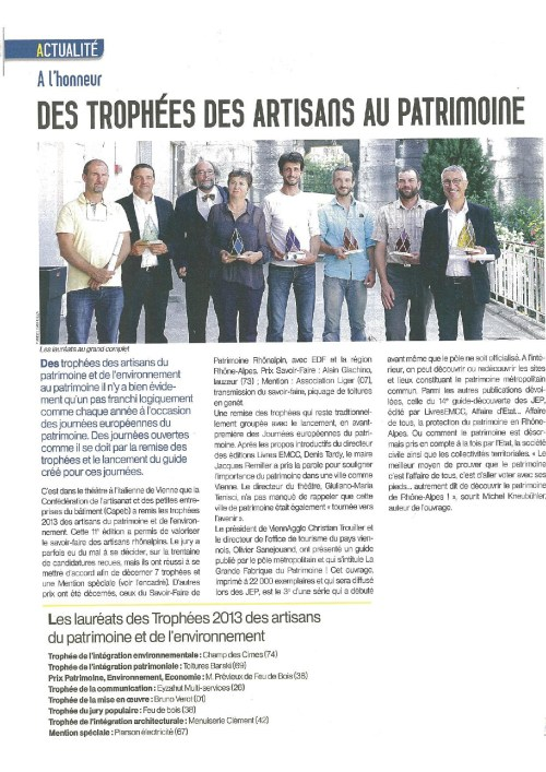 artisans du patrimoine 2013