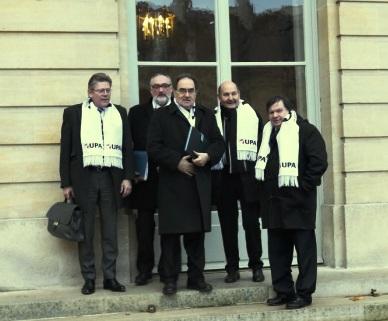 La délégation de l'UPA reçue à Matignon le 19 décembre 2013