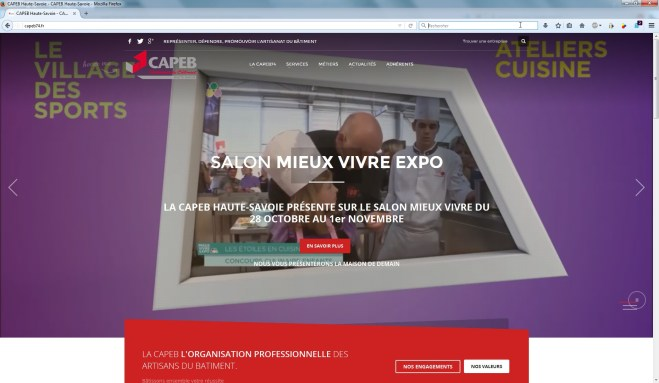 Site de la CAPEB Haute-Savoie