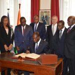 Visite du président ivoirien, Alassane Ouattara, à la Fondation Charles de Gaulle