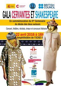 FUNIBER participera au gala commémoratif du IV centenaire de la disparition de Cervantes et Shakespeare au Sénégal