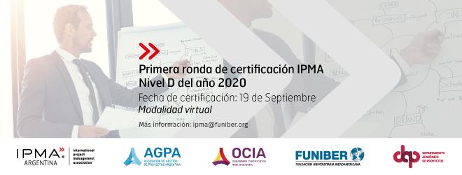 Date et heure du premier cycle de certification IPMA niveau D 2020
