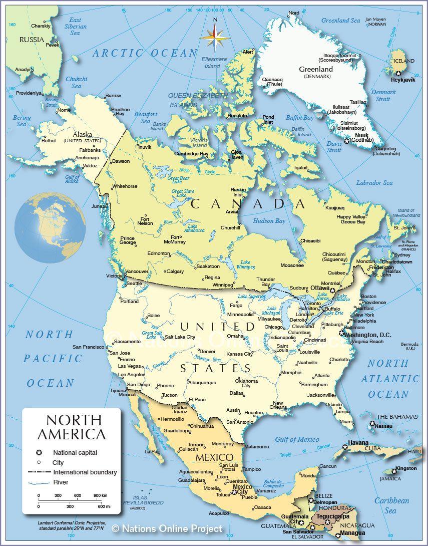 Carte Des Fleuves Du Monde : carte, fleuves, monde, Carte, (Etats-Unis), Cartes, Relief,, Villes,, Administratives,, Politiques,, états...