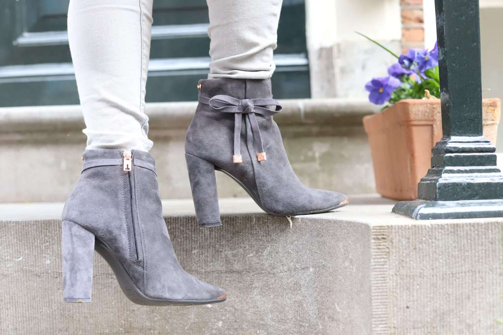 Grey Ted Baker Heeled Boots