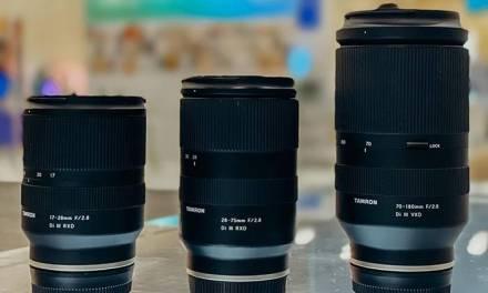 Nouvelles images Tamron 70-180 mm et comparaison de taille avec l'objectif 28-75 mm