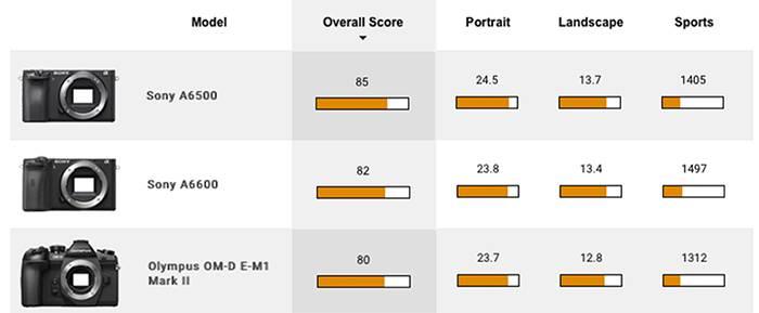 Le capteur Sony A6600 testé à DxO: «un appareil photo attractif à un prix relativement abordable»