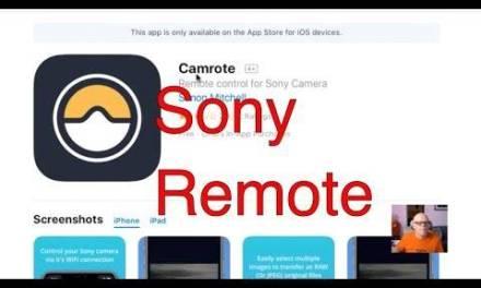 Camrote 1.3.0 rajoute la prise en charge des caméras A9, A7R IV et RX 100 VII