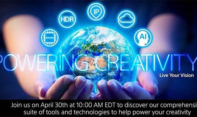 Evénement Sony orienté cinéma et vidéo le 30 avril