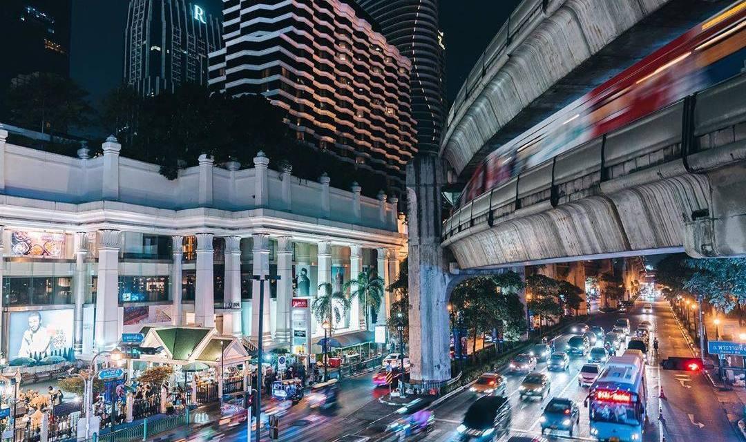Vue prise au populaire Ratchaprasong de Bangkok