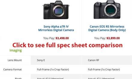 Canon EOS-R5 vs Sony A7rIV, comparatif et premiers retours