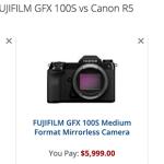 Comparaison des caractéristiques : Sony A1 + Fuji GFX100 + Canon EOS-R5