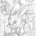 A work in progress sketch of Peter Silvertail for the Base Raiders RPG