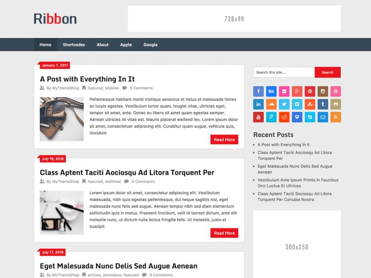 Ribbon Lite- Best Free Themes for WordPress in Hindi