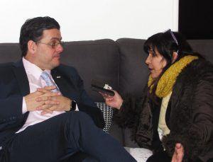 Miguel Villarroel con Elizabeth Araujo.