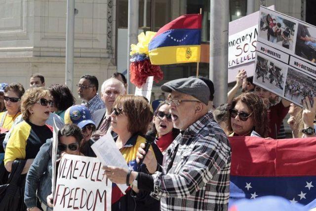 Venezuela protesta mundial - EEUU