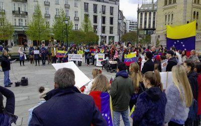 Venezolanos en Noruega se unieron a la protesta mundial
