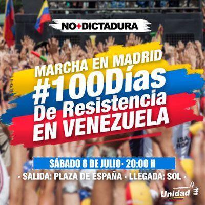 Marcha en Madrid - 100 días de resistencia