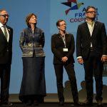 El embajador y la delegación de Colombia.