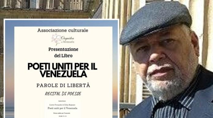 Libro de poesía venezolana en Milán