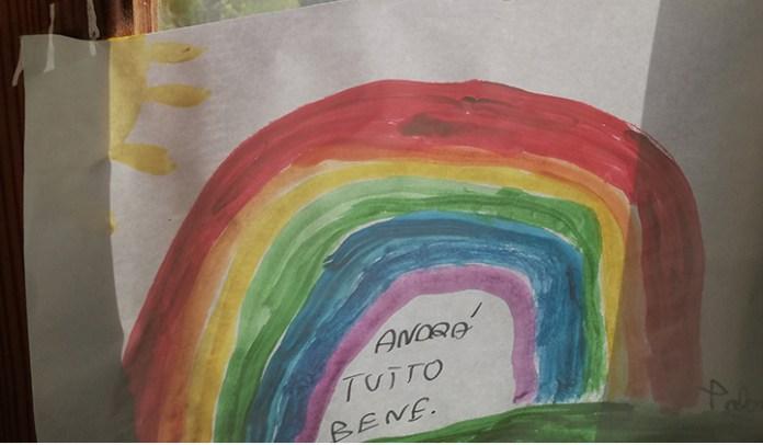 El arcoíris manda a decir que todo estará bien