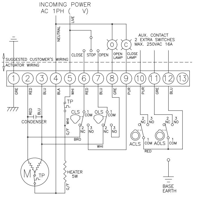 110 220 Motor Wiring Diagram Hq Electric Actuator Hq 008 80nm Avs
