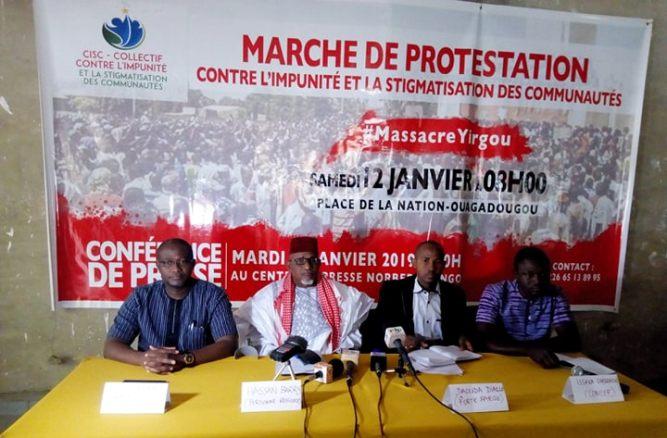 MASSACRE DE YIRGOU : une marche de protestation annoncée pour le 12 janvier prochain