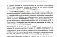 APIVIRINE: L'ANRP demande aux Burkinabè de s'abstenir de son achat