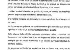 LOROUM: l'attaque d'un convoi de commerçants fait 15 morts et des blessés