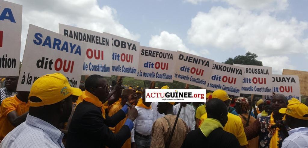 saraya - Dr Mohamed Diané ,ministre de la défense honoré par la très forte mobilisation des militants RPG ,la touche du DGA de l'ONAP,Famoro Camara à Saraya