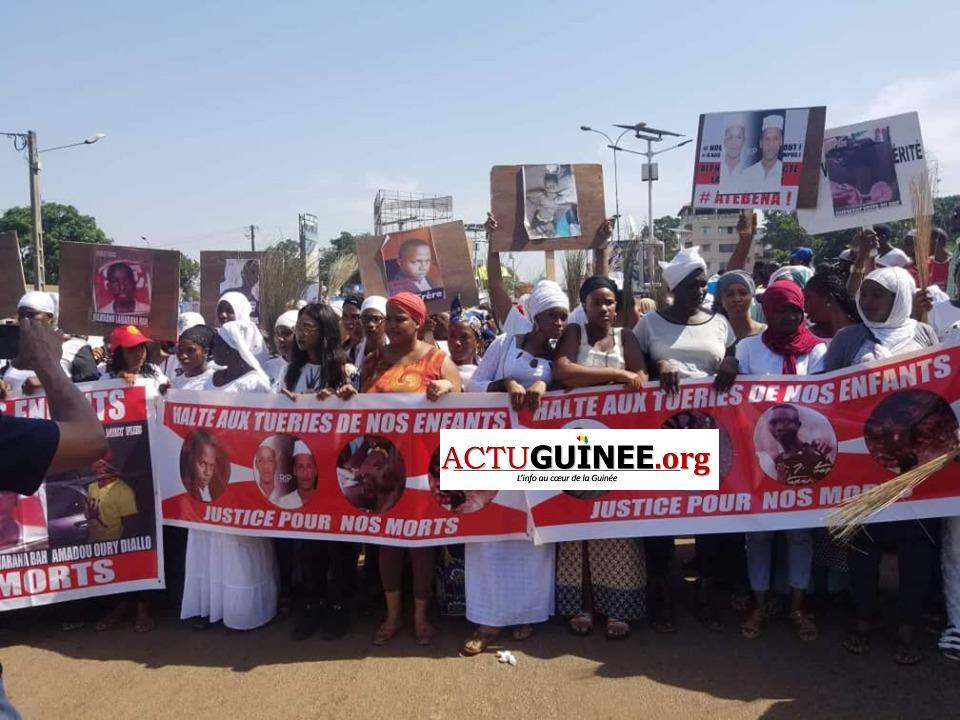 femmmes - Marche à Conakry : Des femmes dénoncent et accusent Alpha Condé et Ansoumane Baffoé de la Police