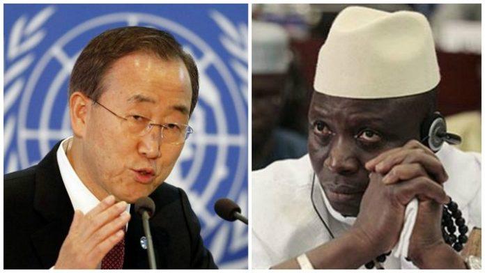 L'ONU met en garde Yahya Jammeh