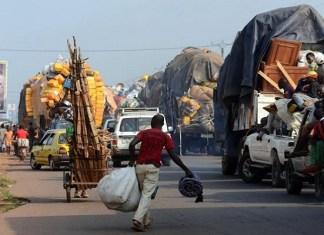 Des réfugiés gambiens au Sénégal