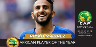 Riyad Mahrez, le joueur africain 2016