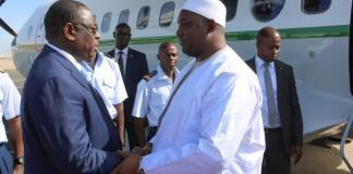 Adama Barrow en visite officielle au Sénégal