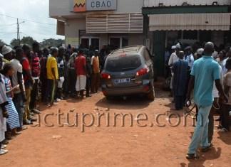 Accident devant la CBAO de Kédougou