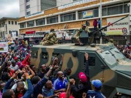 Des manifestants à Harare