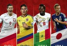 Les lion du Sénégal et les polonais et colombien