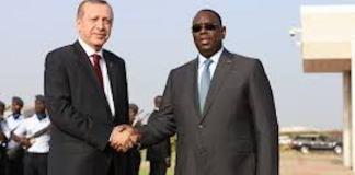 Recep Tayyip Erdogan en visite au Sénégal
