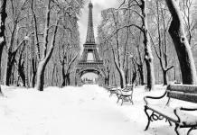 Paris couvert d'un blanc de neige