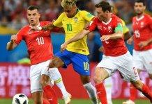 Le Brésil maitrisé par la Suisse