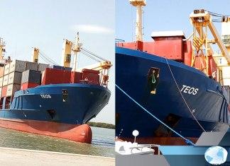 Le bateau MV TEOS à Ziguinchor