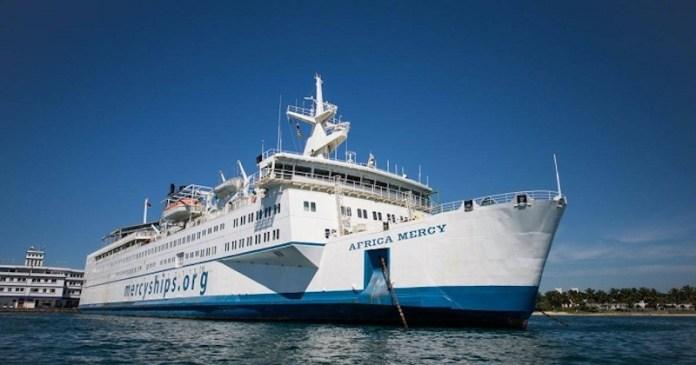 Le bateau Africa Mercy à Dakar en juin 2019