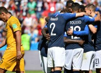 Victoire difficile de la France contre l'Australie