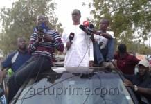 Me Madické Niang en campagne à Kédougou