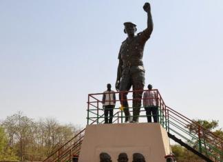 La statue de Thomas Sankara au Burkina Faso