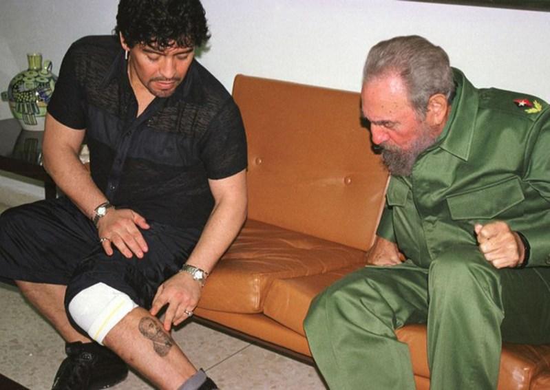 Muere Diego Armando Maradona idólatra de Fidel