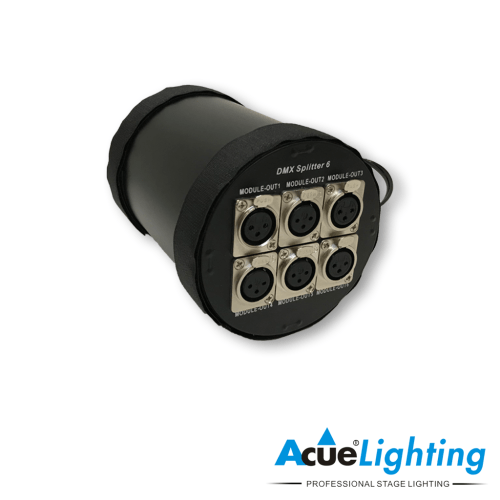 small resolution of acue 6 way dmx splitter back